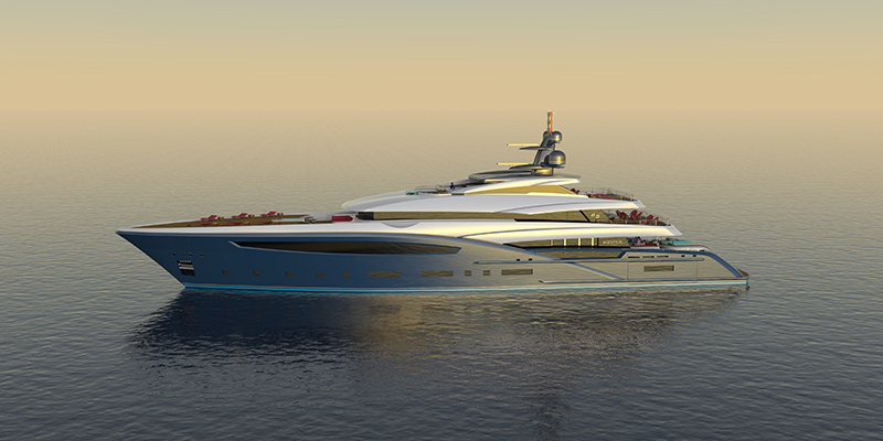 The 65m Custom Yacht Design