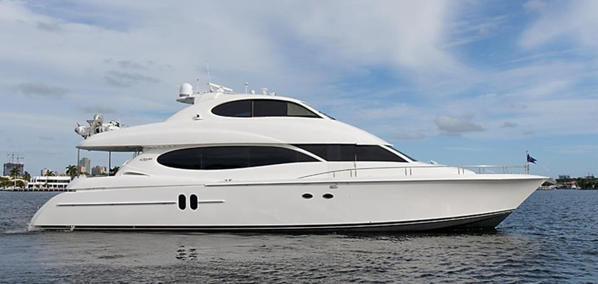 Alchemist Yacht on display at the 2019 Palm Beach International Boat Show