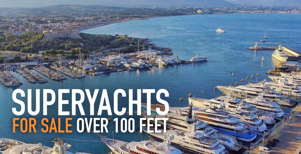 Featured Superyachts for Sale Over 100′