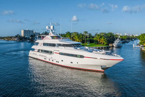 ATOMIC Yacht on display at the 2019 Palm Beach International Boat Show
