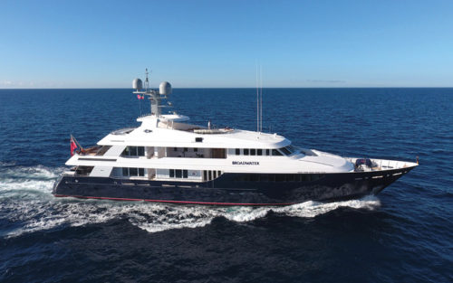 BROADWATER yacht for charter