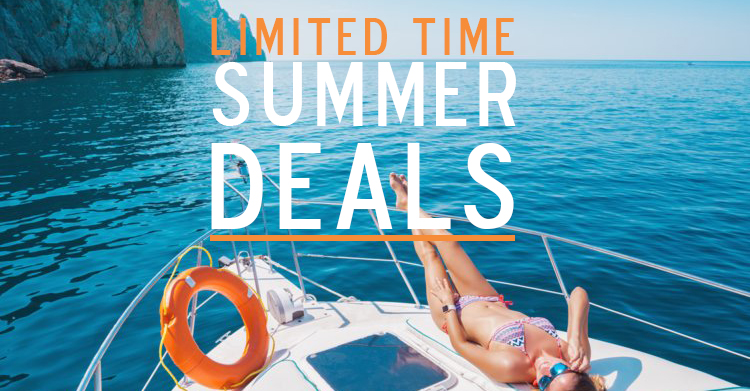 LIMITED TIME: Summer Yacht Vacation Deals