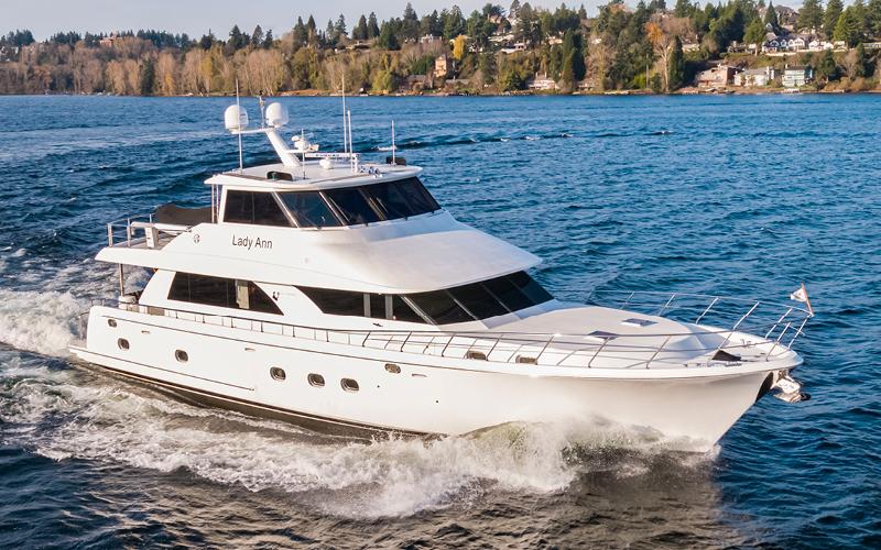 Seattle Boats Afloat LADY ANN 74 Ocean Alexander Yacht For Sale