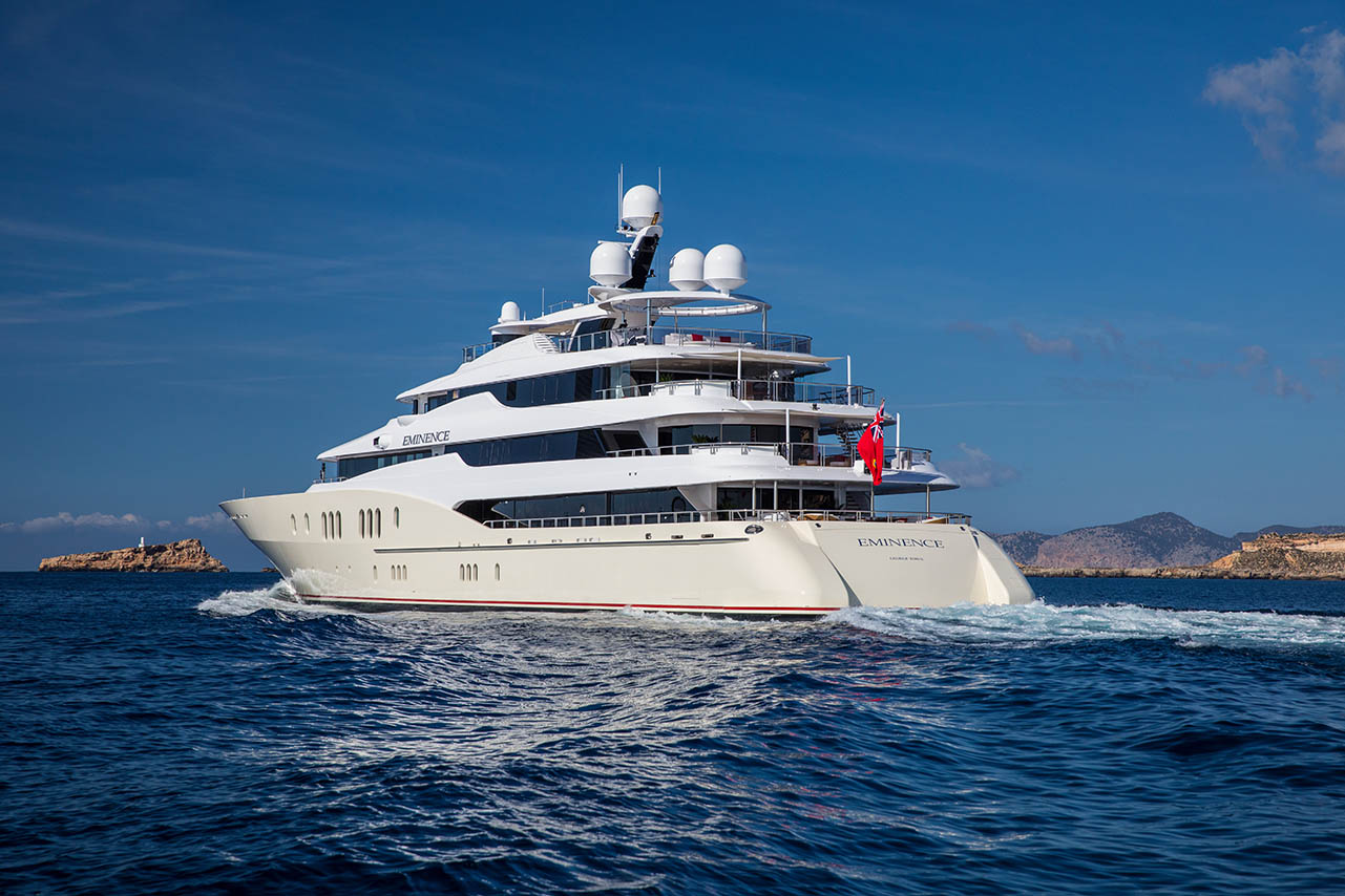 SOLD! Luxury Mega Yacht EMINENCE, 257′ Abeking & Rasmussen