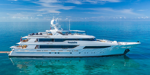 HOSPITALITY 50m Westport Yacht For sale and charter. Built in 2011 and refit in 2019. 50m Luxury Westport Yacht