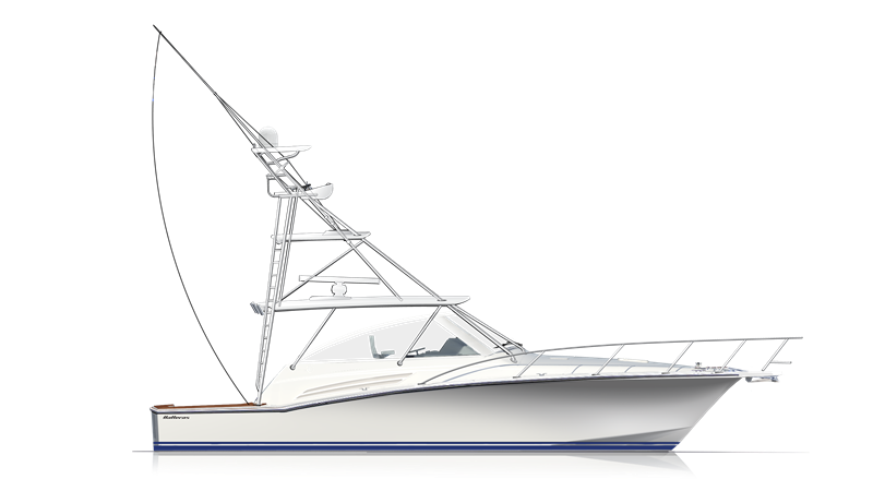 45_fly_express_profile-w-full-tower_r3 Hatteras Yacht For Sale