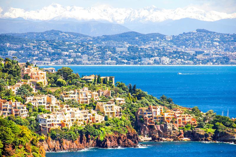 French Riviera yacht charter coastal view