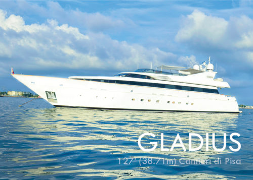 MY Gladius for Cuba yacht charter