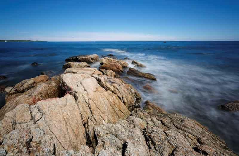 New England yacht charter rocky coast