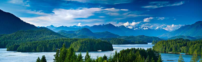 View of Prideaux Haven British Columbia yacht charter