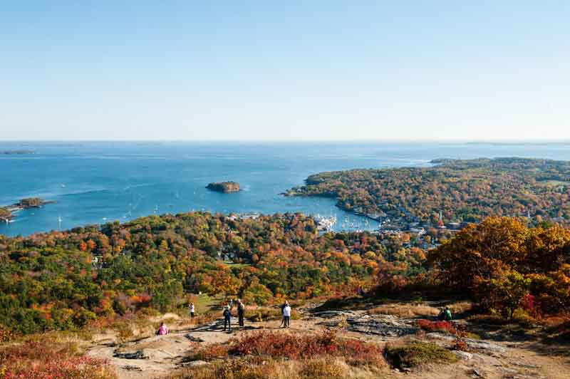 View of Acadia National Park on coastal Maine yacht charter