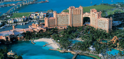 Atlantis Resort on a Bahamas yacht charter