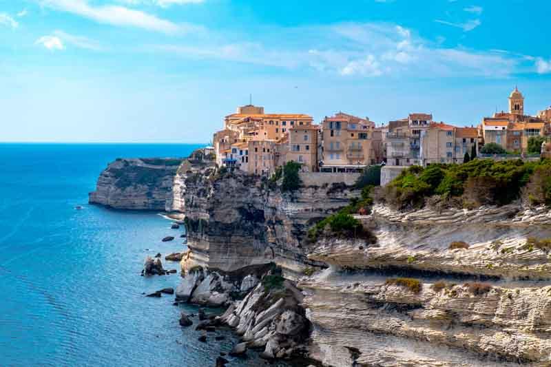 View of Calvi Corsica yacht charter