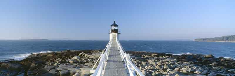 Lighthouse in Castine on a Coastal Maine yacht charter