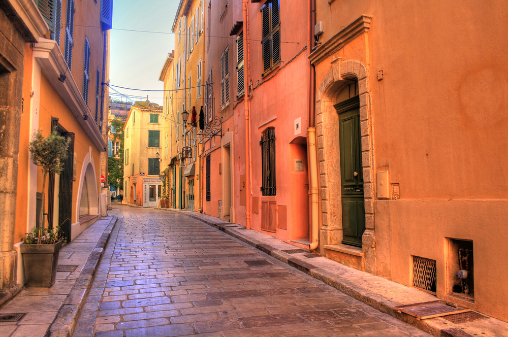 Charming streets of a French Riviera yacht charter