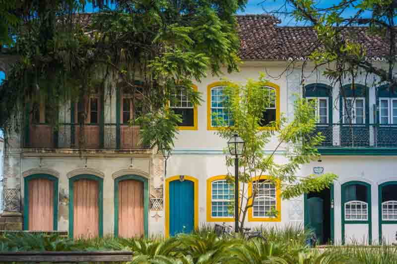 Colorful architecture on Brazil yacht charter