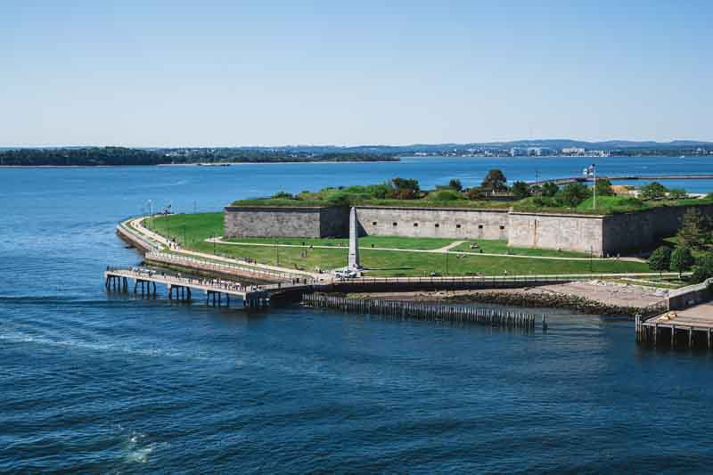Fort Independence in Boston a Portland yacht charter