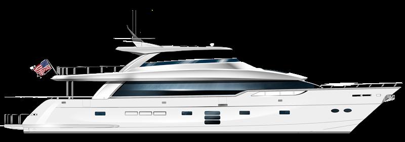 M98 Panacera Hatteras Yacht Model