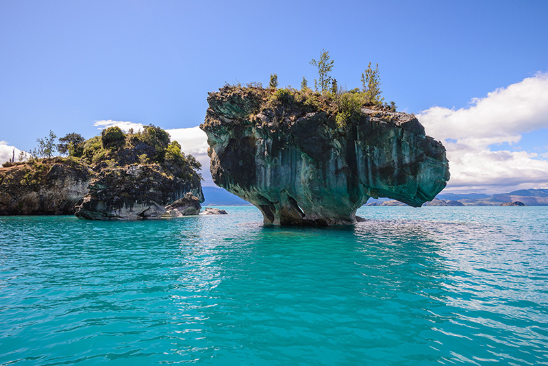The Marble Caves in Chile on a Patagonia yacht charter