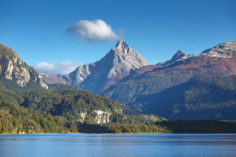 Mountain view on a Patagonia yacht charter