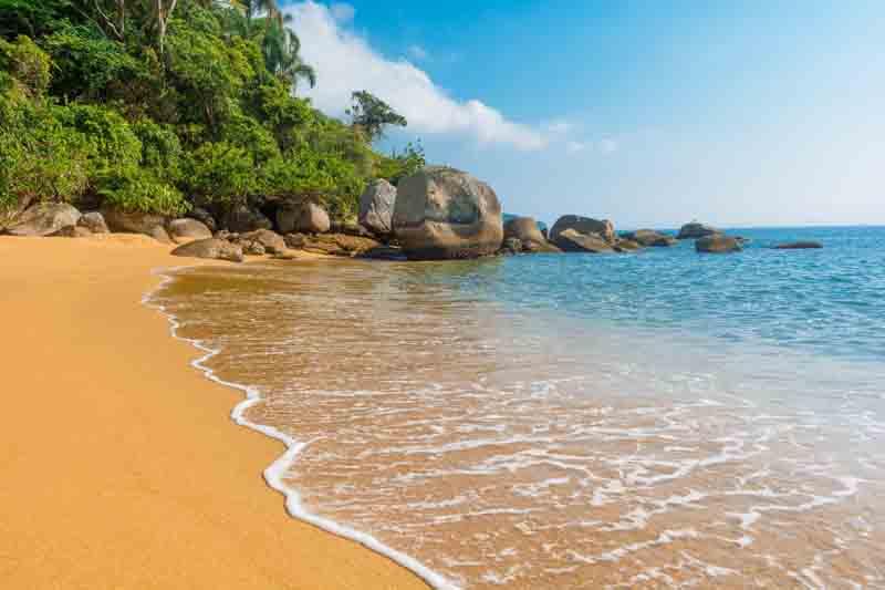 Scenic beach in Palma on a Brazil yacht charter