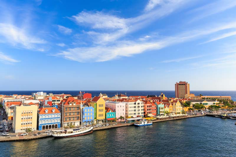 Dutch architecture in Willemstad on ABC Islands yacht charter