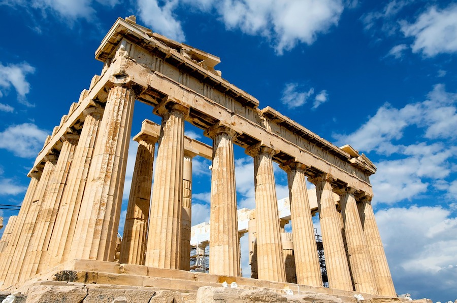 The Acropolis in Athens, Mediterranean yacht charter