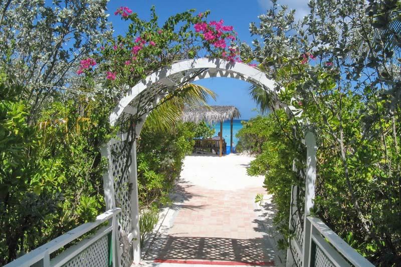 San Salvador beach entrance Bahamian Out Islands yacht charter