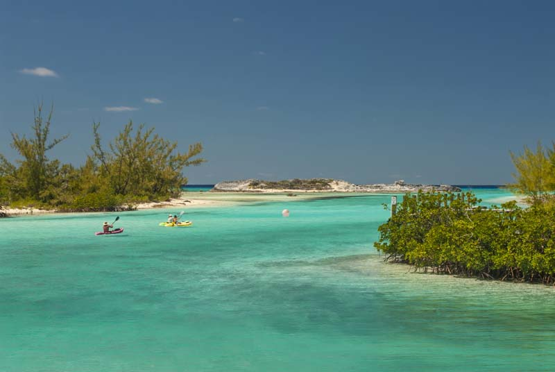 Kayaking in Cat Island on Bahamian Out Islands Yacht Charter