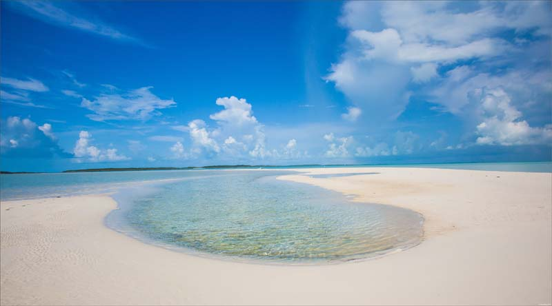 Rum Cay beach on a Bahamian Out Island yacht charter