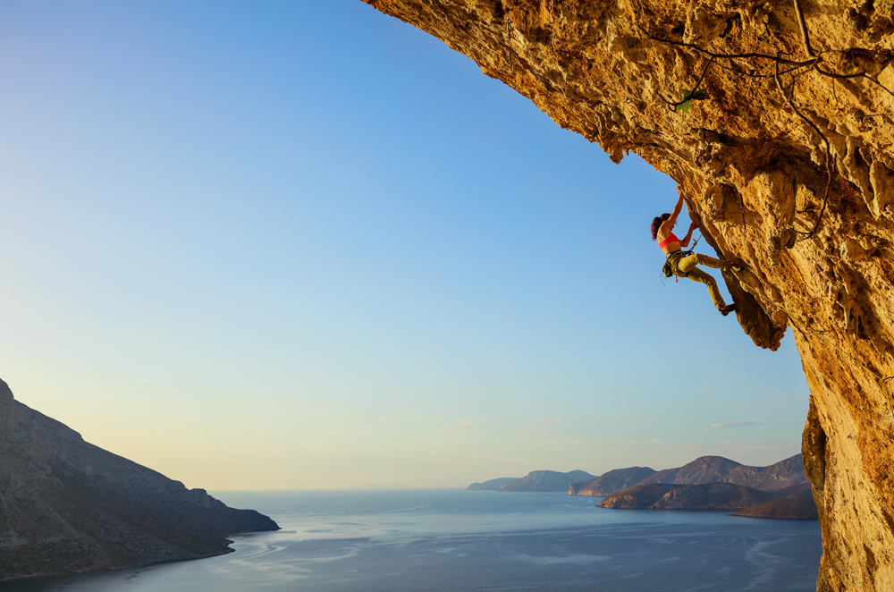 Rock climbing in Kalymnos, Dodecanese yacht charter