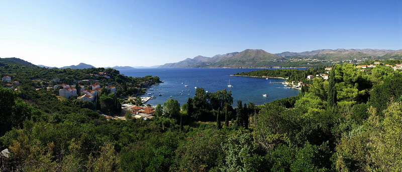 Bay in Elaphite chain on a Croatia yacht charter itinerary