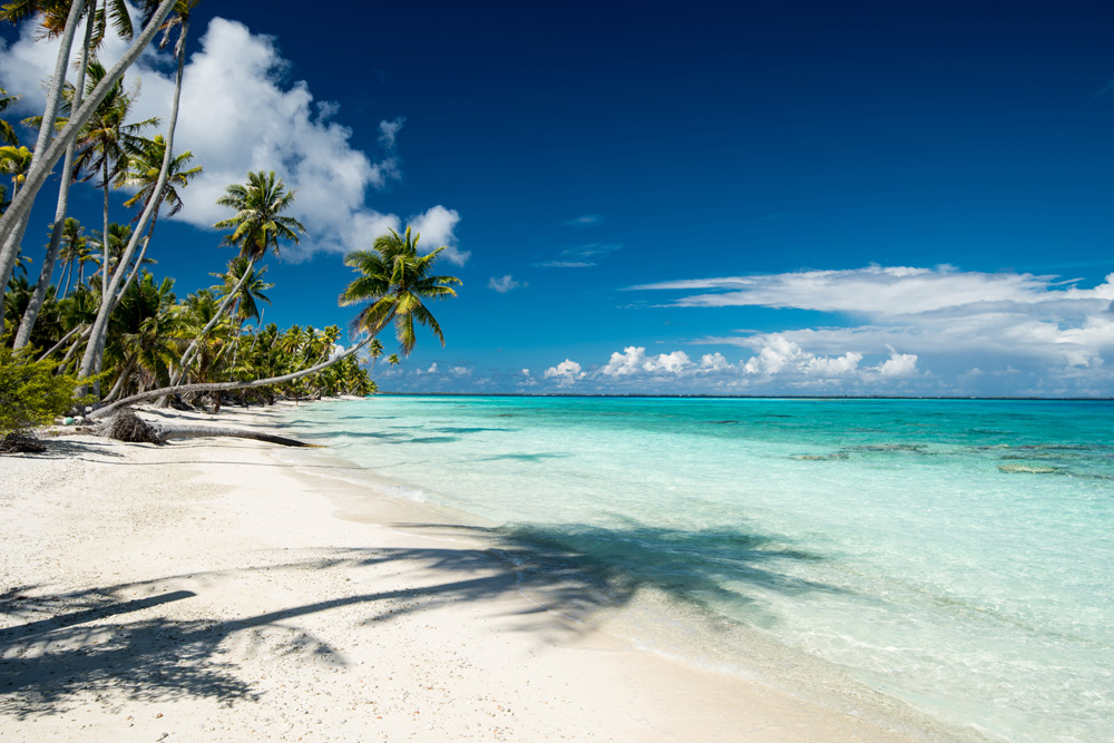 Idyllic beach on Vanilla Island, French Polynesia yacht charter