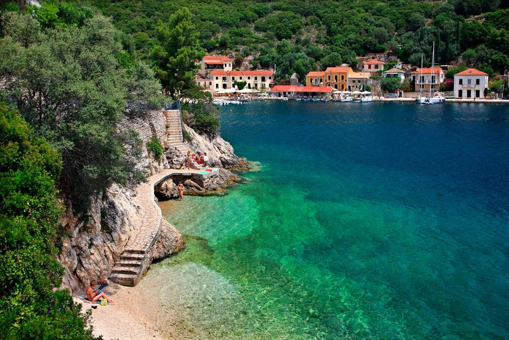 Ithaca beach on Ionian Islands yacht charter