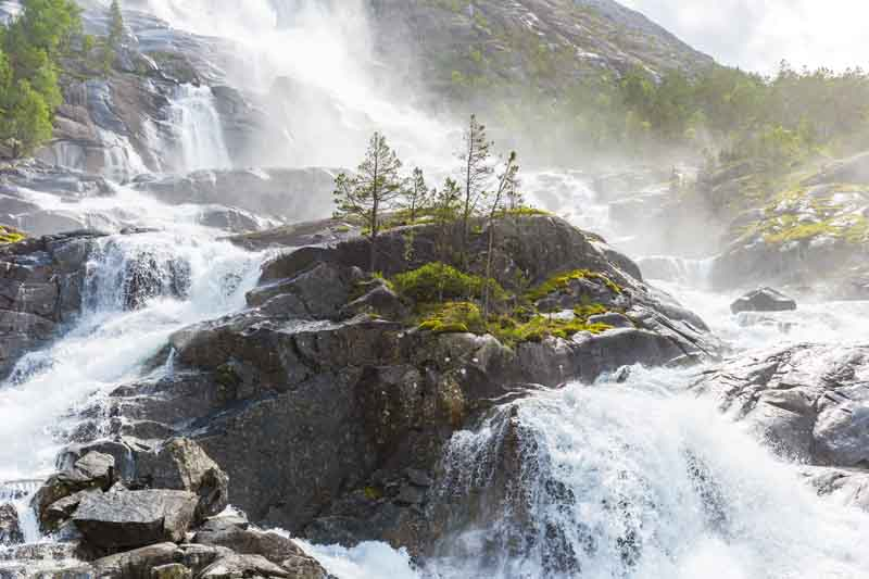 Steinsdalsfossen waterfall, Norway yacht charter