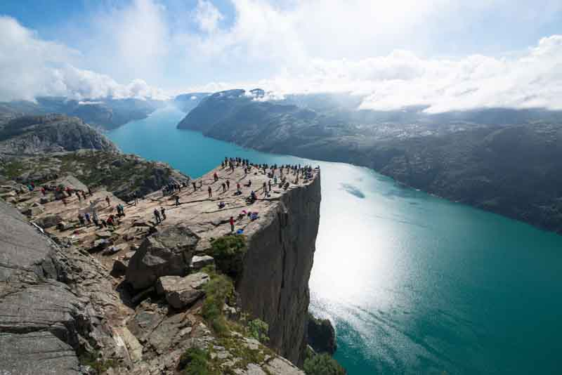 Pulpit Rock on Norway yacht charter