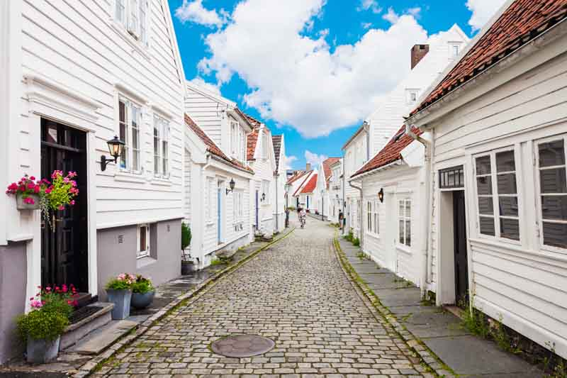 Streets of Stavanger on Norway yacht charter