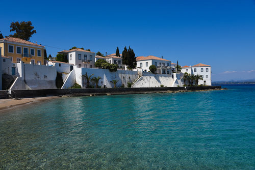 Greek architecture on a Saronic yacht charter