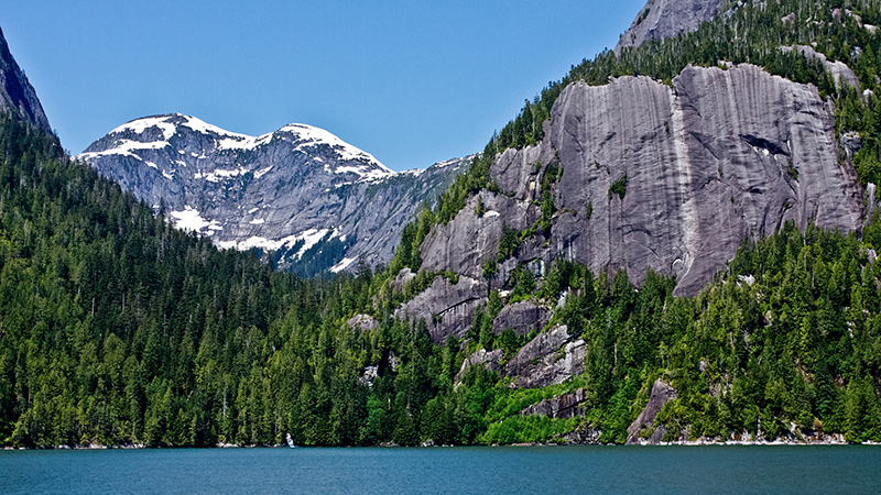 Punchbowl Cove on yacht charter itinerary Alaska
