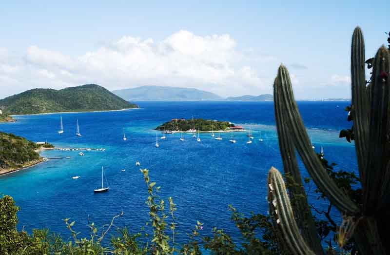 Overview of the ocean on a yacht charter itinerary British Virgin Islands
