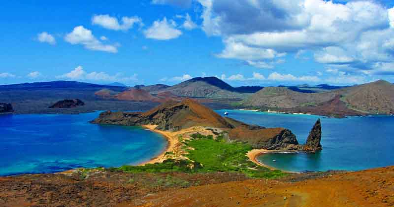 View of Rabida Island, on Yacht Charter Itinerary Galapagos 1