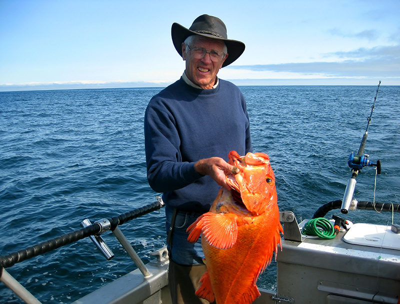 Fishing in Pybus Bay on a yacht charter itinerary Glacier Bay