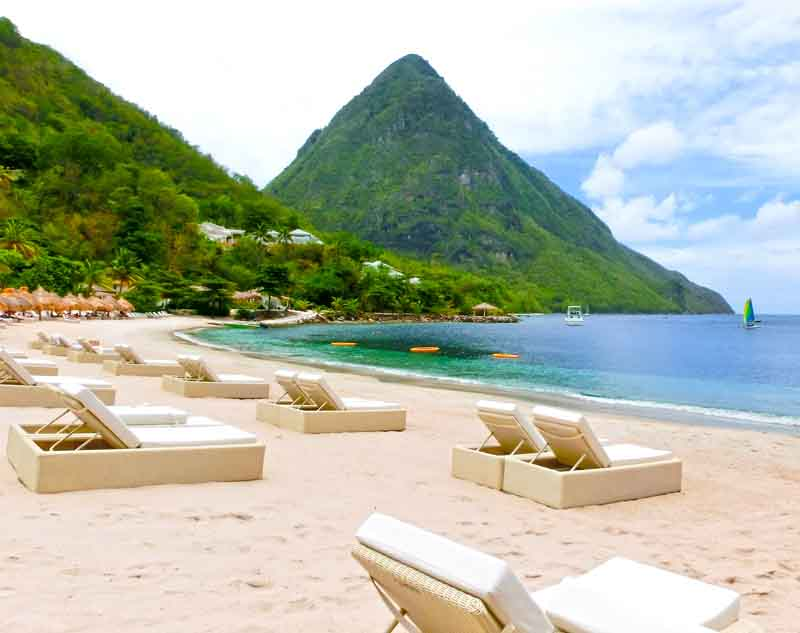 St Lucia peak on a yacht charter itinerary Grenada