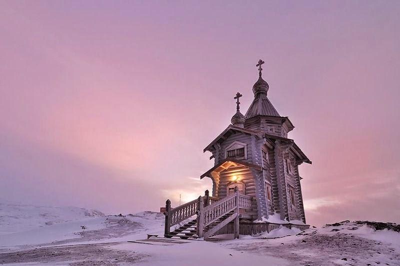 Holy Trinity Church on Antarctica yacht charter