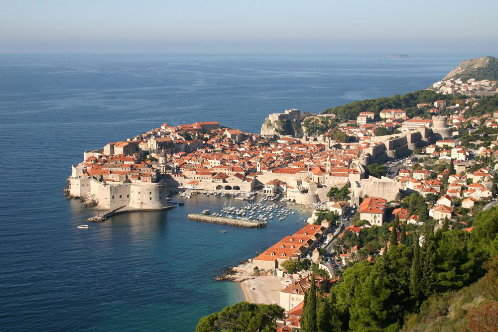 Dubrovnic panorama on Croatia yacht charter