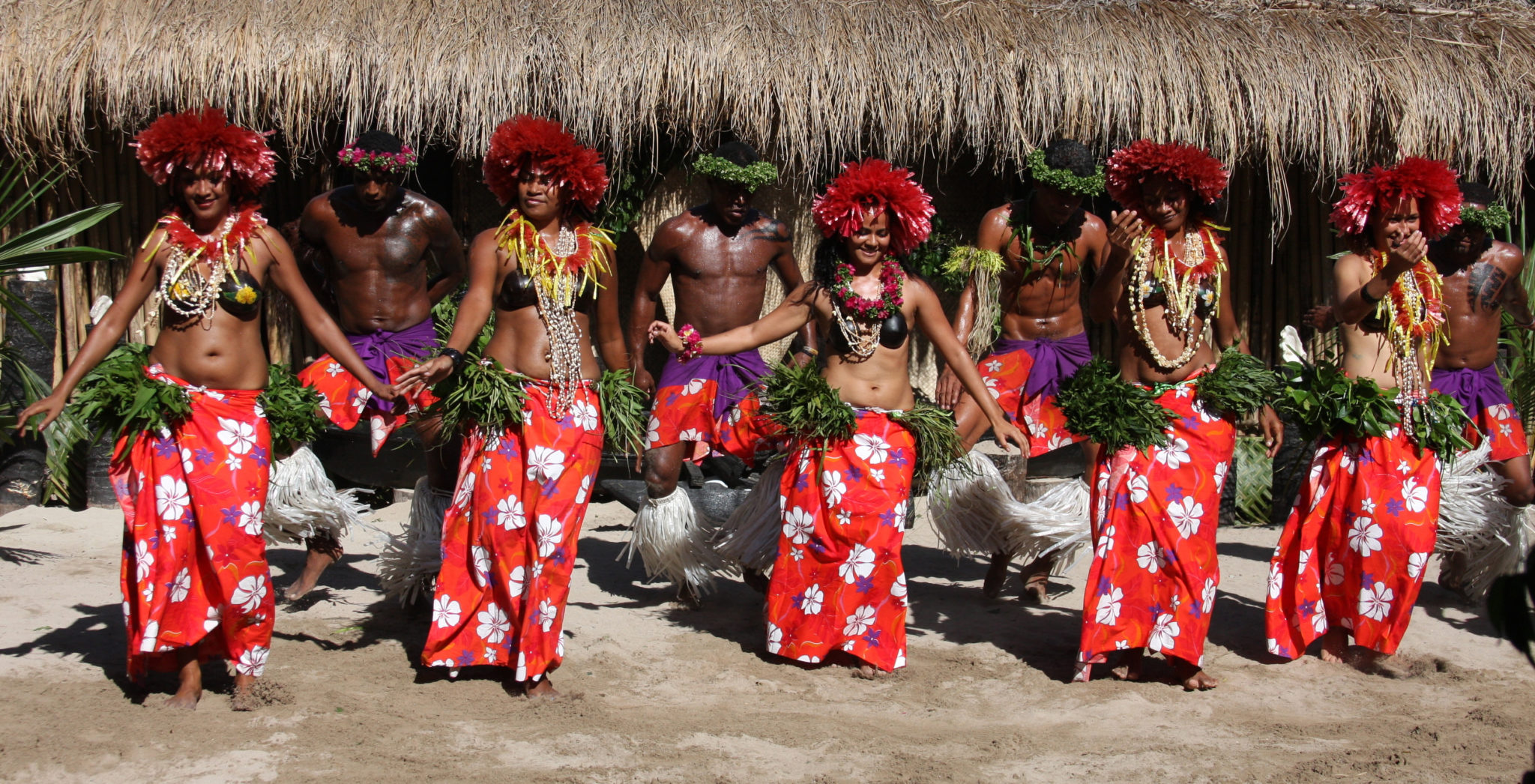 Traditional dancing on Fiji yacht charter