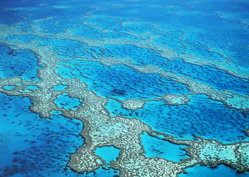 Aerial view of Hardy Reef on Australia yacht charter