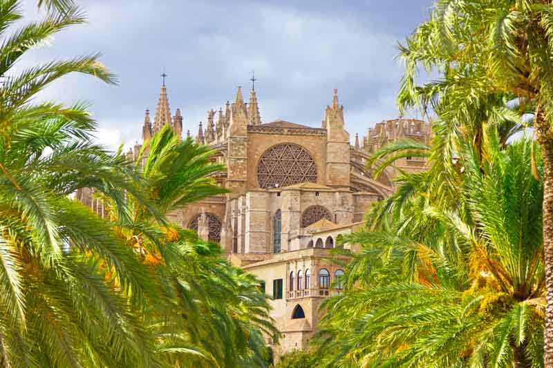 La Seu Cathedral in Palma on Balearics yacht charter