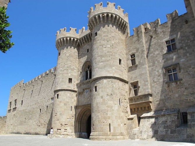 Palace of the Grand Master of the Knight of Rhodes on Medieval Greece yacht charter