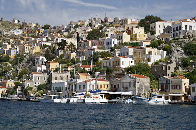 Houses in Symi, medieval Greece yacht charter